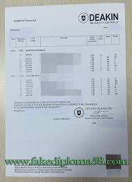 deakin university transcript sample fake transcript fakediploma58
