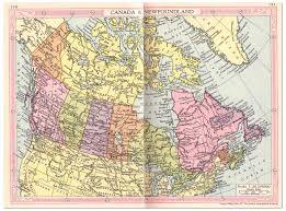 Map Of Newfoundland Canada by Canada And Newfoundland Map 1935 Philatelic Database