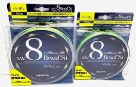 si e v o daiwa fishing braided line sw 8 braid x8 si evo silicone 300m ebay