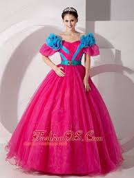 simple quinceanera dresses hot pink the shoulder quinceanera dress made flowers