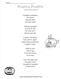 Halloween Poems Children Halloween Worksheets And Printouts