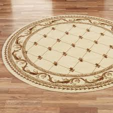 Round Modern Rug by Modern Round Area Rugs Ivory Color Round Rug Fleur De Lis Round