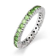 stackable birthstone ring peridot birthstone stackable ring in sterling silver s addiction