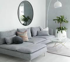 gros canapé déco salon salon gris et blanc aux lignes épurées gros canapé gris