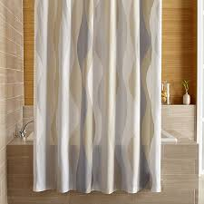 Shower Curtains by Italian Seersucker Neutral Shower Curtain Crate And Barrel