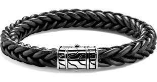 sterling silver leather bracelet images Lyst john hardy limited edition classic chain sterling silver jpeg