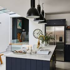 navy blue kitchen cabinet design navy kitchen ideas to add an element of rich colour and