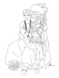 navajo woman and baby coloring page