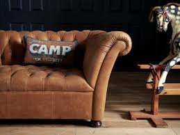 John Lewis Leather Sofas John Lewis Oak Full Leather Hand Buttoned Chesterfield Cambridge