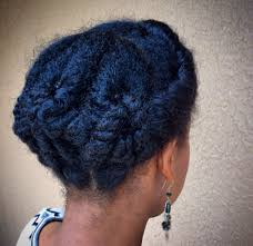 how would you style ear length hair natural hair protective style updo short medium length tutorial