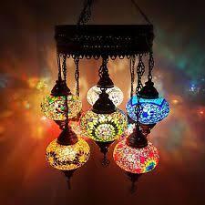 Mosaic Chandelier Turkish Brass Moroccan Chandeliers Ebay