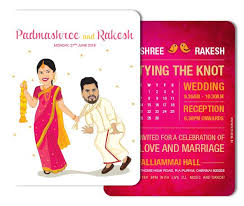 indian wedding invitation cards caricatures the way to send a personalized wedding