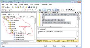 how to create temp table in sql temporary tables vs table variable in sql server 2008