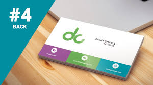 Flat Design Business Card 4 How To Design Business Cards In Photoshop Cs6 Flat Design