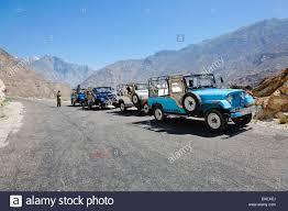 jeep pakistan pakistan gilgit baltistan jeeps on the karakorum highway stock