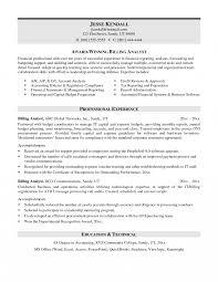 resume sle formats billing coordinator resume sle slesplates billing