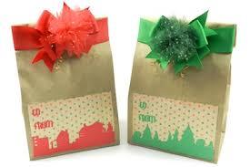 christmas paper bags gift wrapping handmade christmas gift bags bowdabra