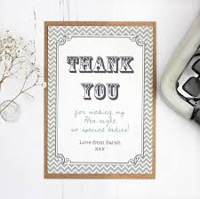 thank you card for hen party and wedding thank you card by precious plum