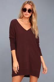 cozy sweater dress plum sweater dress sleeve dress
