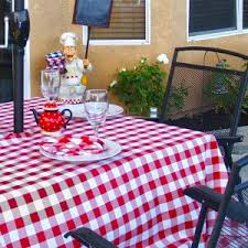 outdoor dining table cover dining room furniture gingham tablecloth decor with square dining