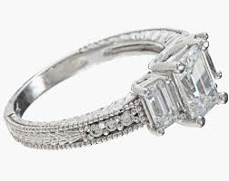 cubic zirconia engagement rings white gold 14k white gold 2 34ct tgw clear cubic zirconia engagement style