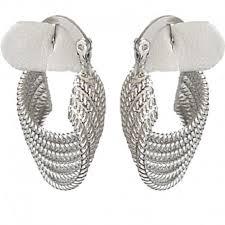 creole earrings silver wave twist hoop creole earrings fashion women costume jewellery