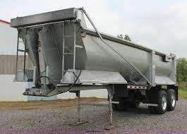 1995 western barrel bed end dump trailer item k6880 sold