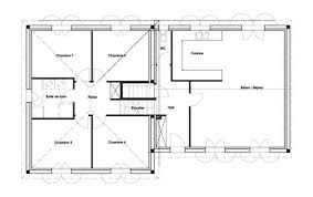 plan maison 4 chambres plain pied gratuit plan de maison plein pied gratuit 8 plan de maison contemporaine