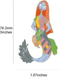 nightmare before sally as a mermaid pin for sale