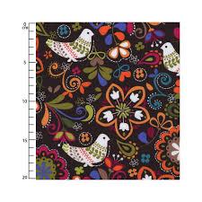 fabric assorted prints michael miller birds of norway espresso x
