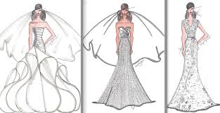 angel rivera wedding dress sketches for anne hathaway st simons