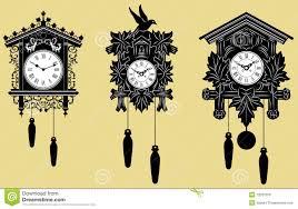 cuckoo clocks set stock vector image of balcony retro 12031379