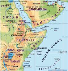 africa map states map of horn of africa several states map in the atlas of the