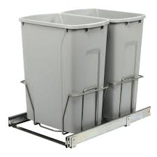 kitchen cabinet garbage can pull out trash cans kitchen cabinet organizers the home depot