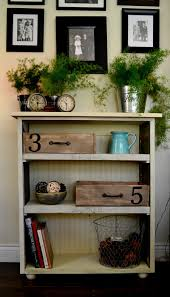 rustic bookcase 3 shelves reclaimed wood bookcase dark blue and