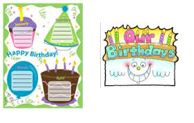birthday printables for bulletin board activities and printables