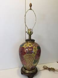 Frederick Cooper Table Lamps by Vintage Frederick Cooper Hollywood Regency Porcelain Flowers Table
