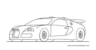 how to draw a sports car bugatti veyron junior car designer