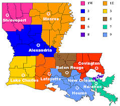 louisiana map areas owca district office listings louisiana workforce commission