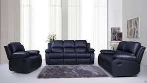 3 piece recliner sofa set valencia 3 2 1 seater leather recliner sofas black brown cream