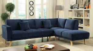 Mid Century Modern Sectional Sofa by Hagen Sectional Sofa Cm6799nv In Navy Fabric