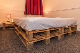 amazing king size pallet bed frame price reduce for quick sale