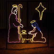 Outdoor Nativity Lighted - outdoor decoration nativity manger scene