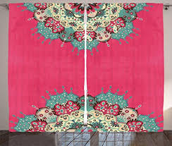 Bohemian Drapes Indian Decor Curtains By Ambesonne Mandala Nepal Hippie Abstract