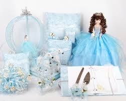 cinderella quinceanera package toasting set doll pillows guest