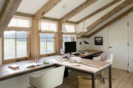 bureau à la maison idées d aménagement de bureau partagé pour la maison