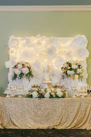 Wedding Backdrop Gold Coast Wedding Dessert Table Sweet Table Paper Flower Backdrop Gold