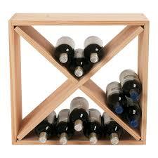 amazon com wine enthusiast 24 bottle compact cellar cube wine amazon com wine enthusiast 24 bottle compact cellar cube wine rack mahogany home kitchen