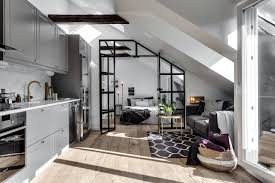 attic apartment ideas attic apartment with industrial glass wall follow gravity home