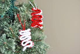 candy christmas tree easy crochet ribbon candy christmas ornament with free pattern